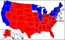 electoral college map polls